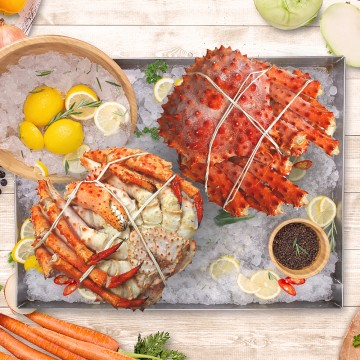Cooked Chilean King Crab 智利熟王蟹 (700g-800g)