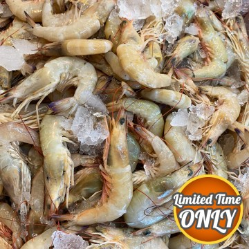 PROMOTION! Swa Lor, Blue-tail Prawns 沙罗虾 1kg (size varies/kg)
